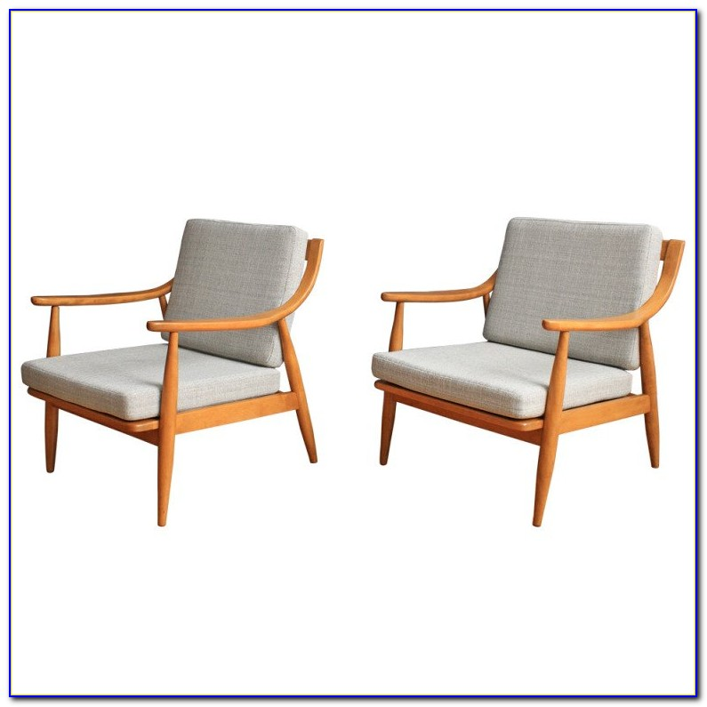 Mid Century Lounge Chairs Pair