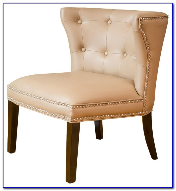 Moss Oxford Leather Tan Accent Chair