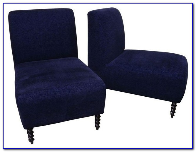 Navy Blue Leather Accent Chairs
