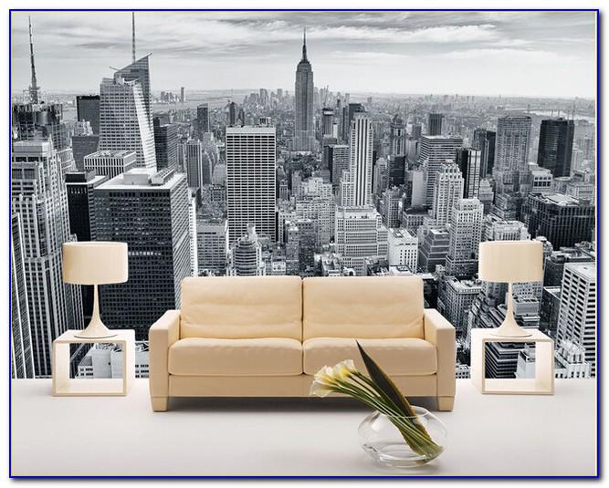 New York Bedroom Wallpaper Black And White