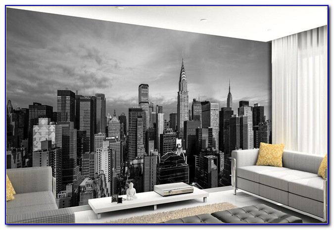 New York Wallpaper Bedroom Designs