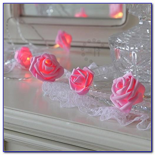 Pink Fluffy Fairy Lights For Bedroom