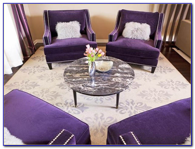 Purple And White Chairs Living Room