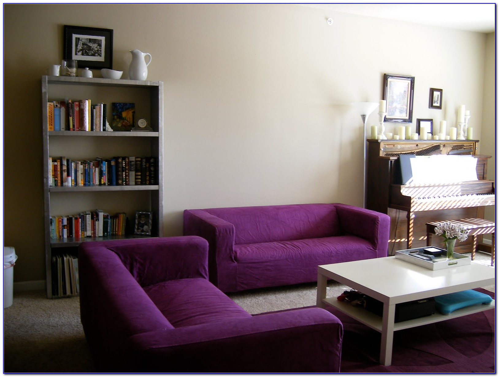 Purple Leather Living Room Furniture
