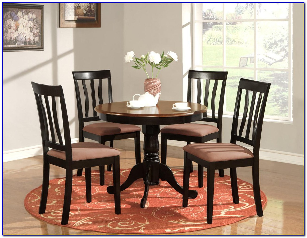 Round Kitchen Table And Chairs For 6