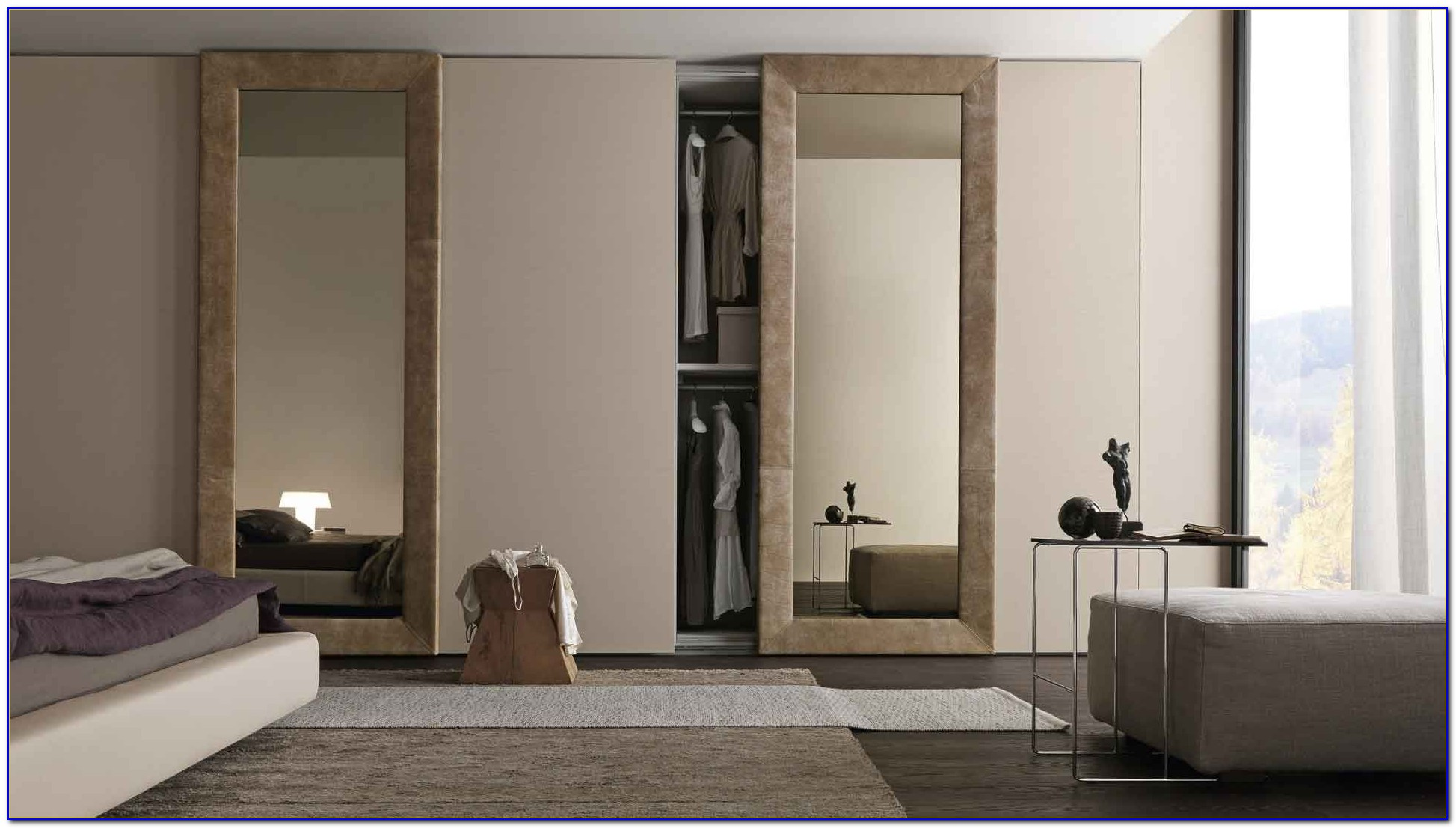 Sliding Door Wardrobe Designs For Bedroom Indian