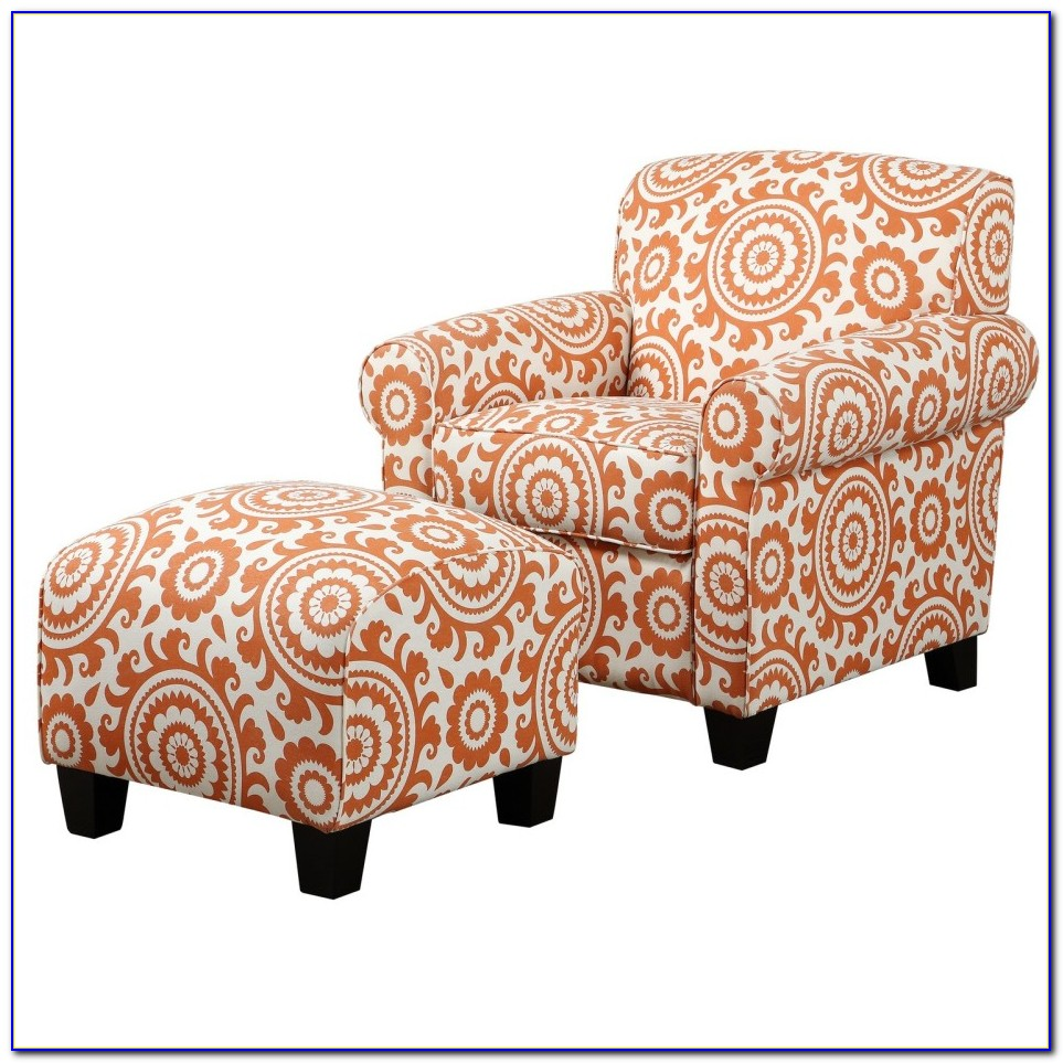 Small Accent Chair With Ottoman