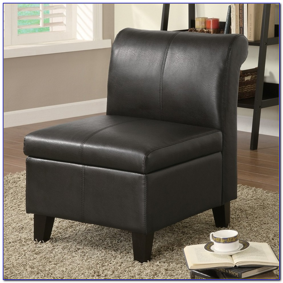 Small Faux Leather Accent Chairs