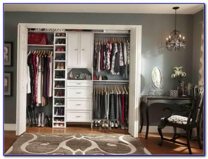 Small Master Closet Organization