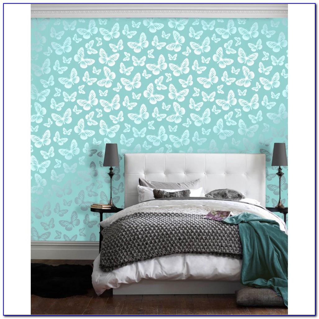 Teal Wallpaper Bedroom Ideas