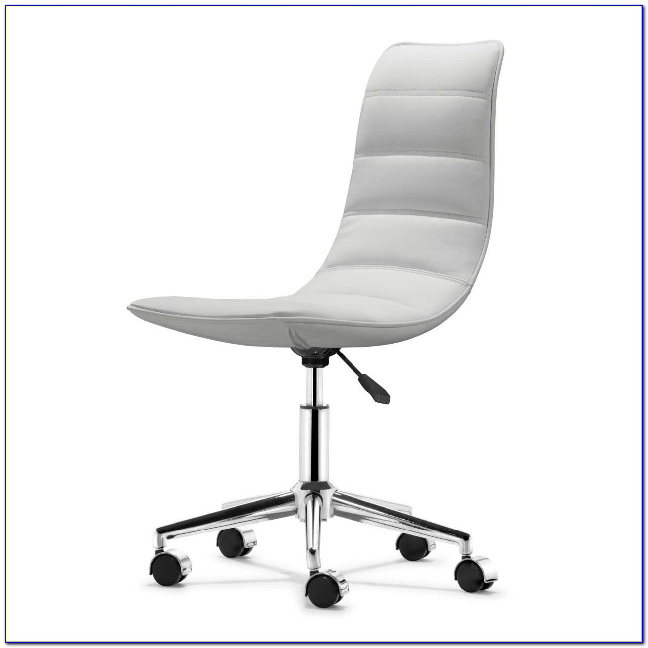 White Armless Desk Chair