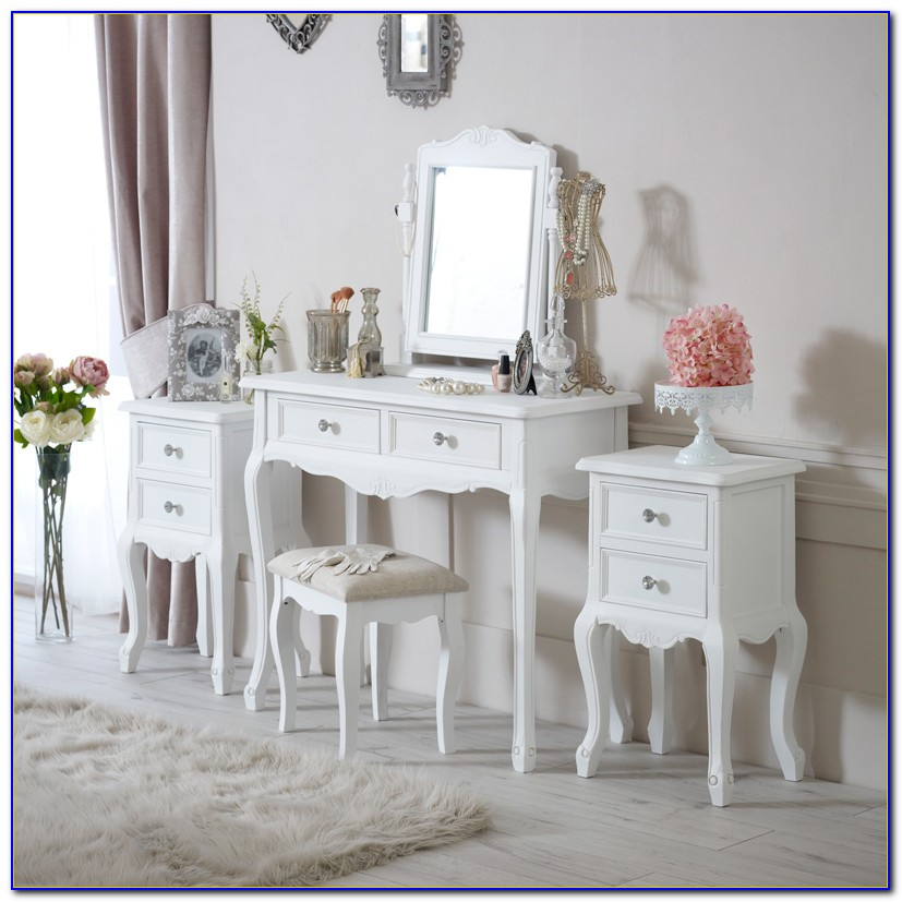 White Bedroom Furniture Set With Dressing Table