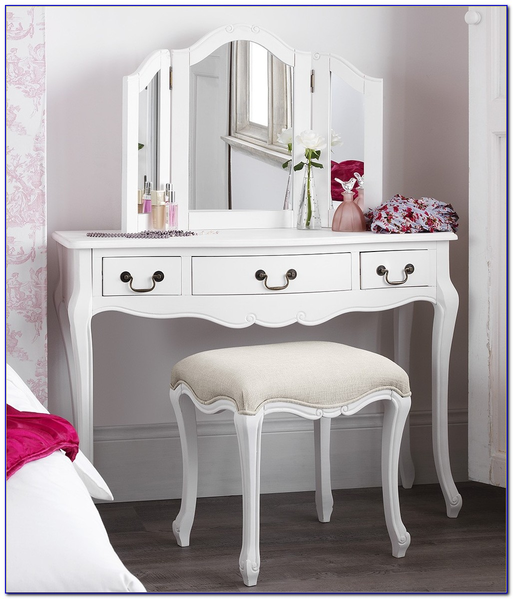 White Gloss Bedroom Dressing Table
