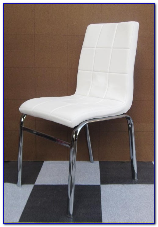 White Leather Dining Chairs Ebay