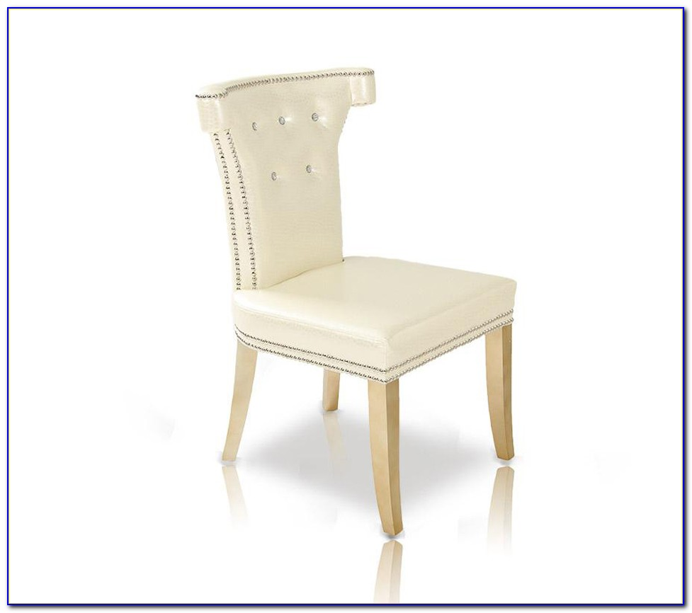 White Leather Dining Chairs With Wooden Legs