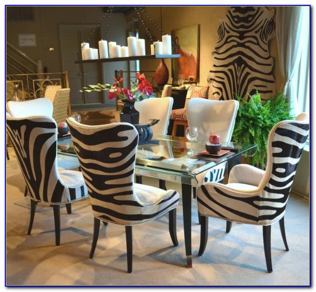 Zebra Wood Dining Room Set