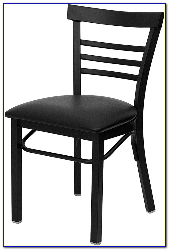 4 Black Metal Dining Chairs