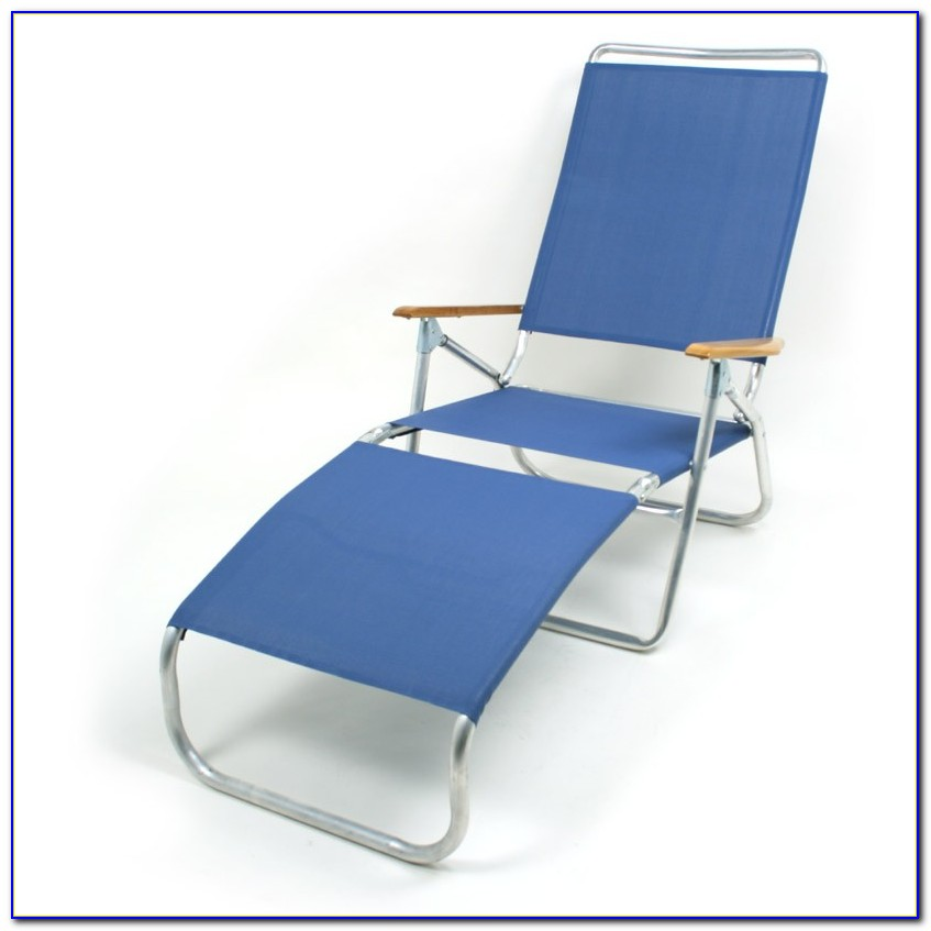 Aluminum Folding Chaise Lounge Lawn Beach Chair