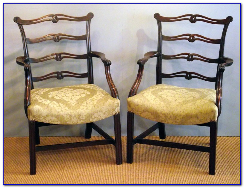 Antique Ladder Back Rush Chairs