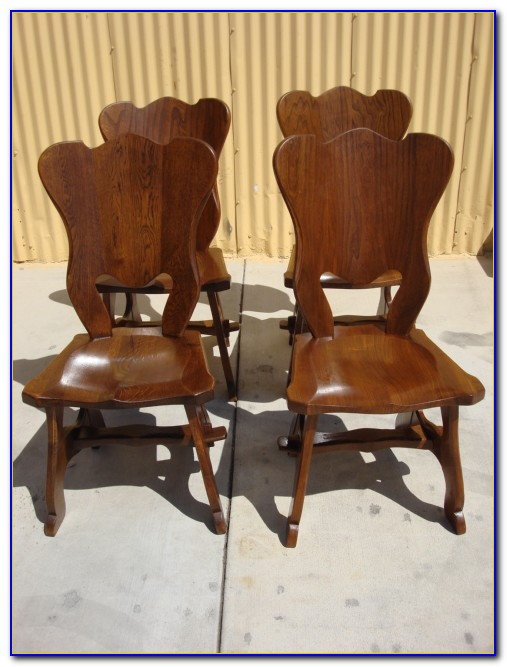 Antique Wood Dining Set