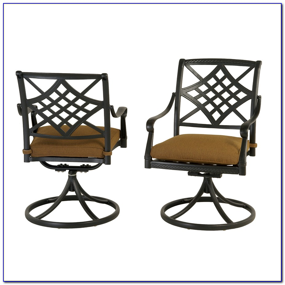 Bistro Patio Set With Swivel Chairs