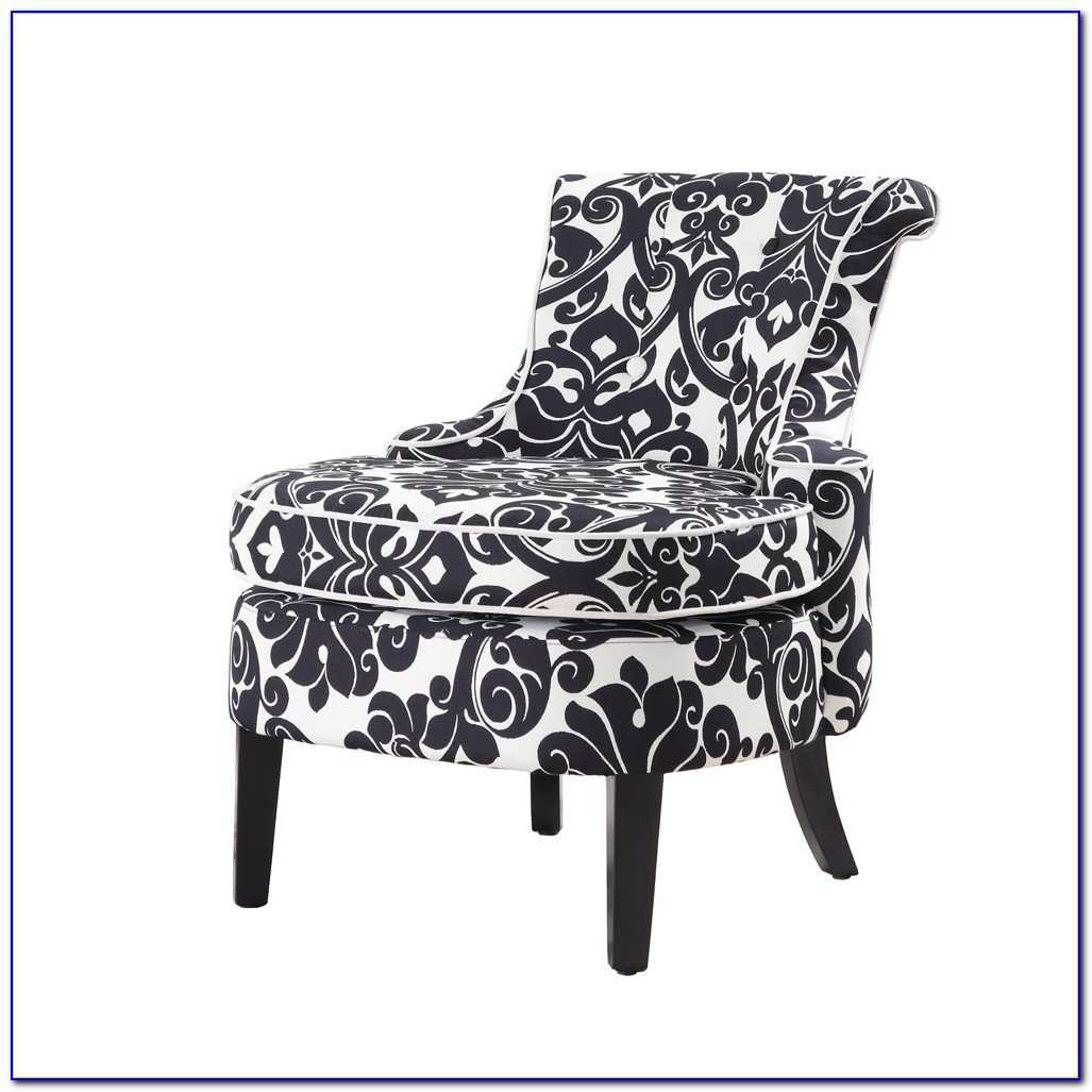 Black And White Accent Chairs With Arms