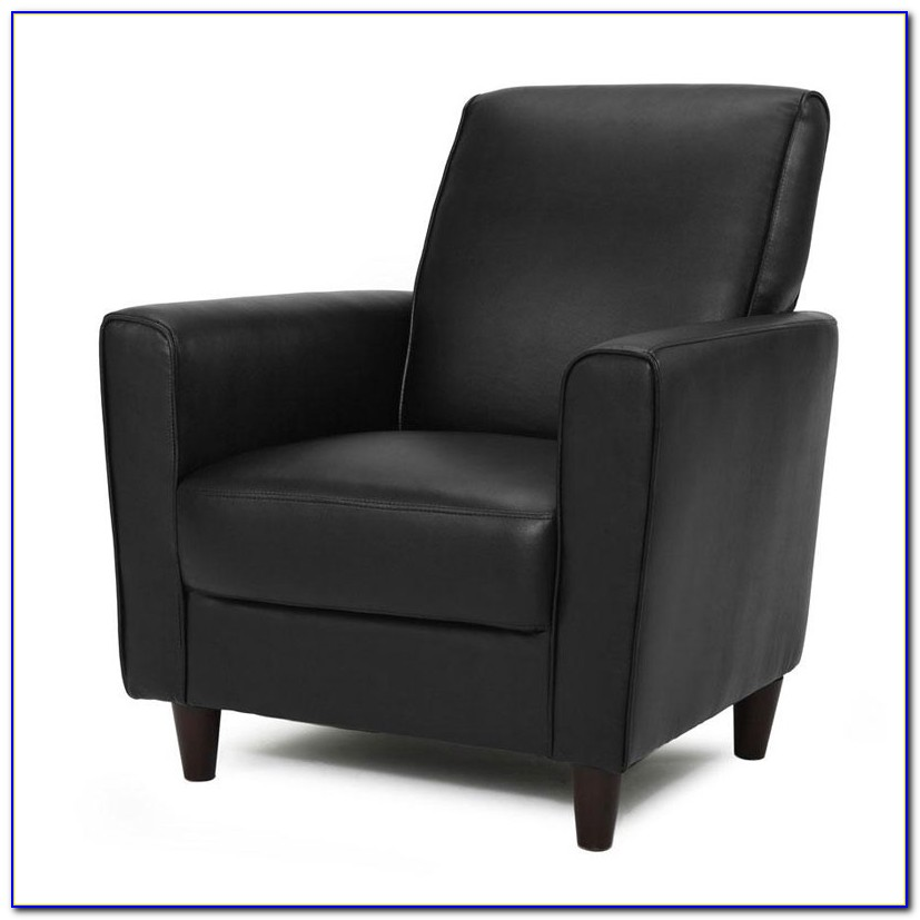 Black Leather Accent Chair Target