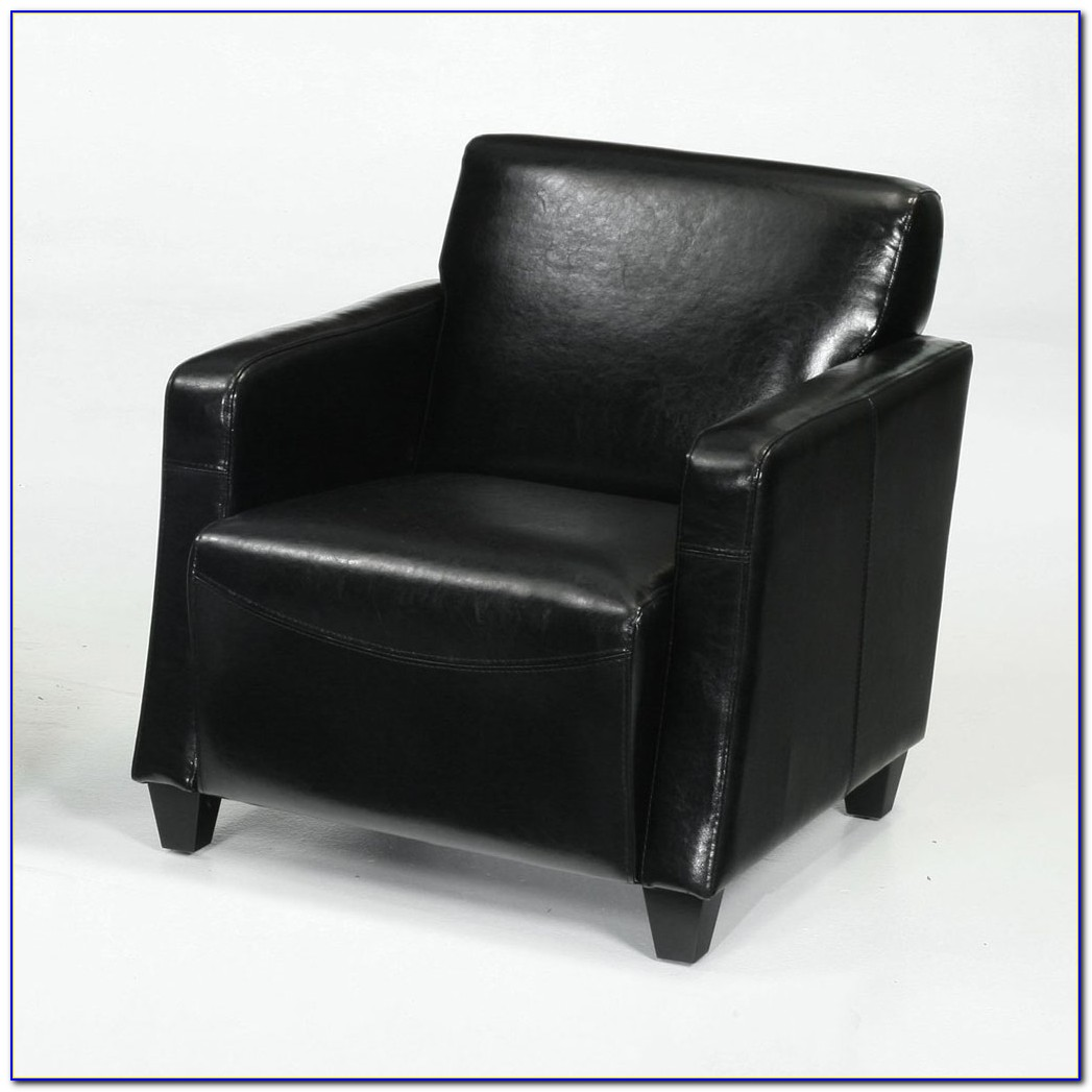 Black Leather Club Chair Recliner