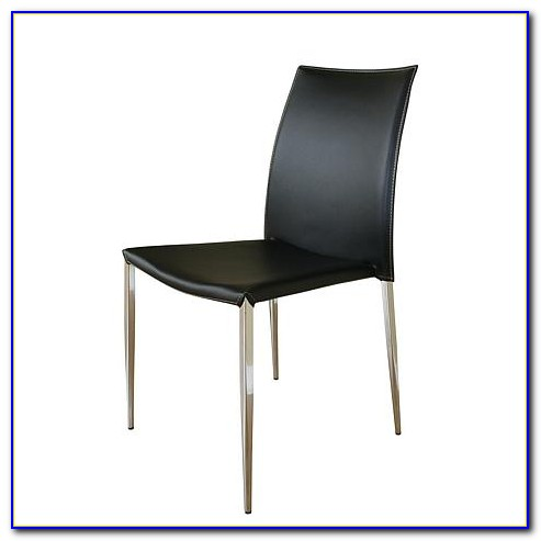 Black Leather Dining Chairs With Chrome Legs