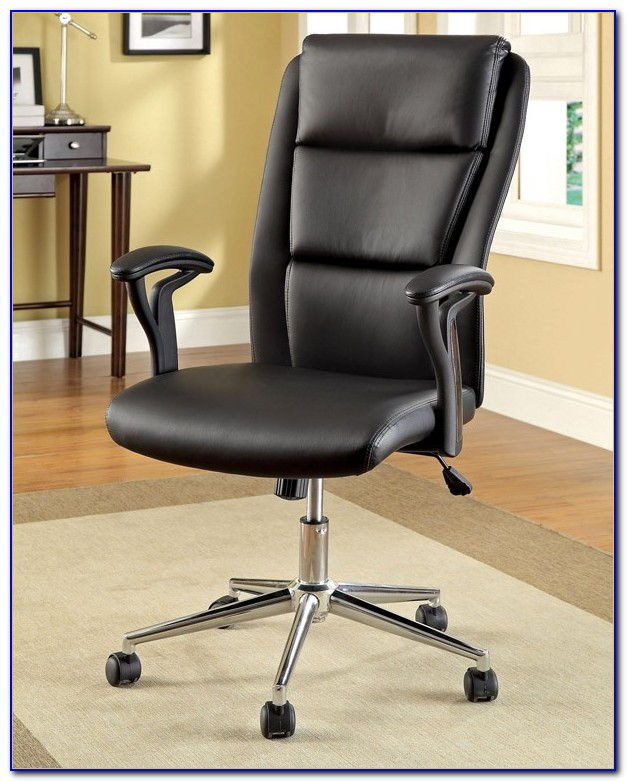 Black Leather Office Chair Ebay