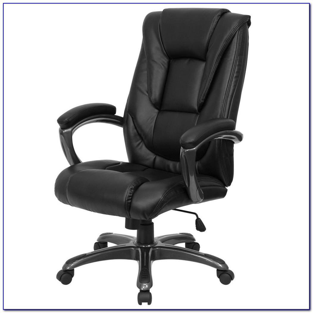 Black Leather Office Chair With Lumbar Support