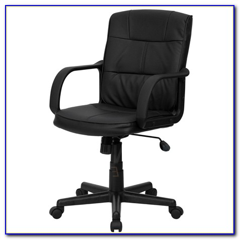 Black Leather Office Chair Without Arms