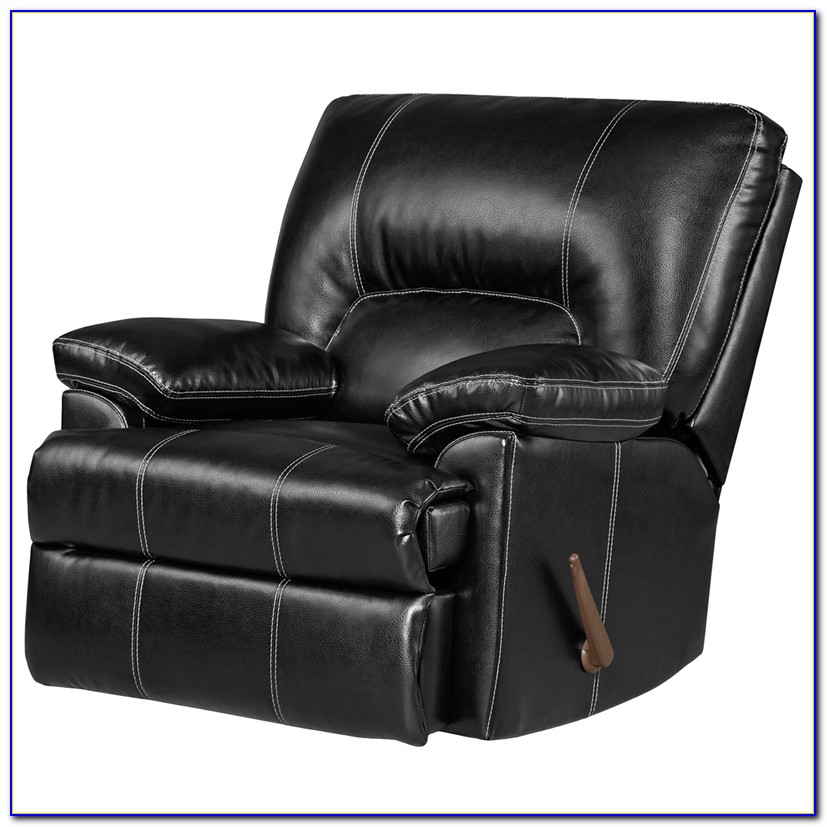 Black Leather Recliner Chair Small
