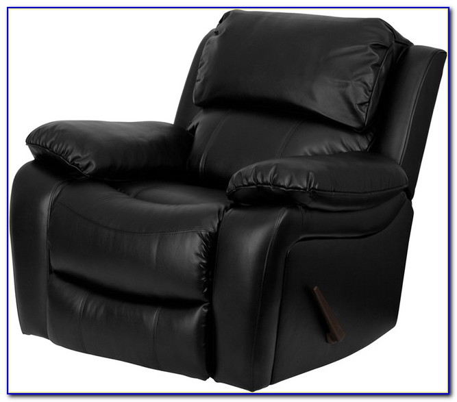 Black Leather Recliner Chair With Footstool