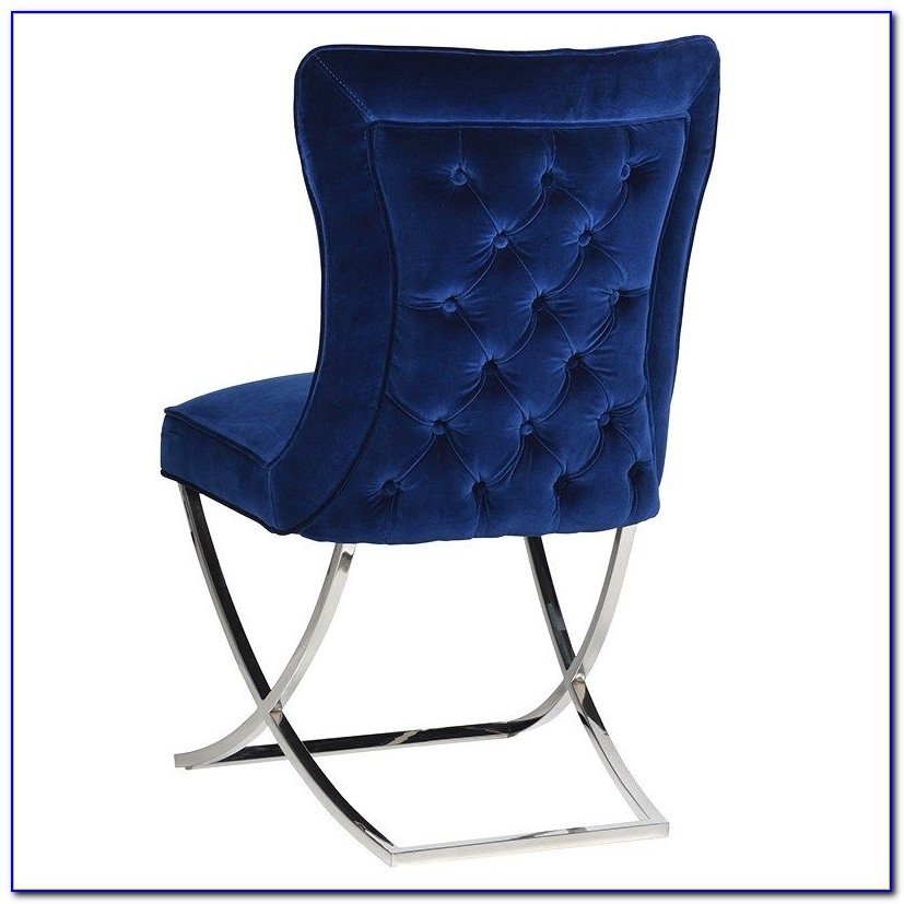 Blue Velvet Dining Chairs Uk