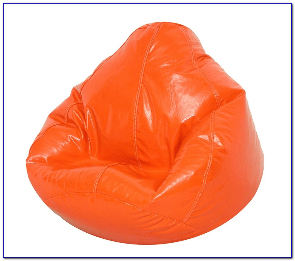 Bright Orange Bean Bag Chair