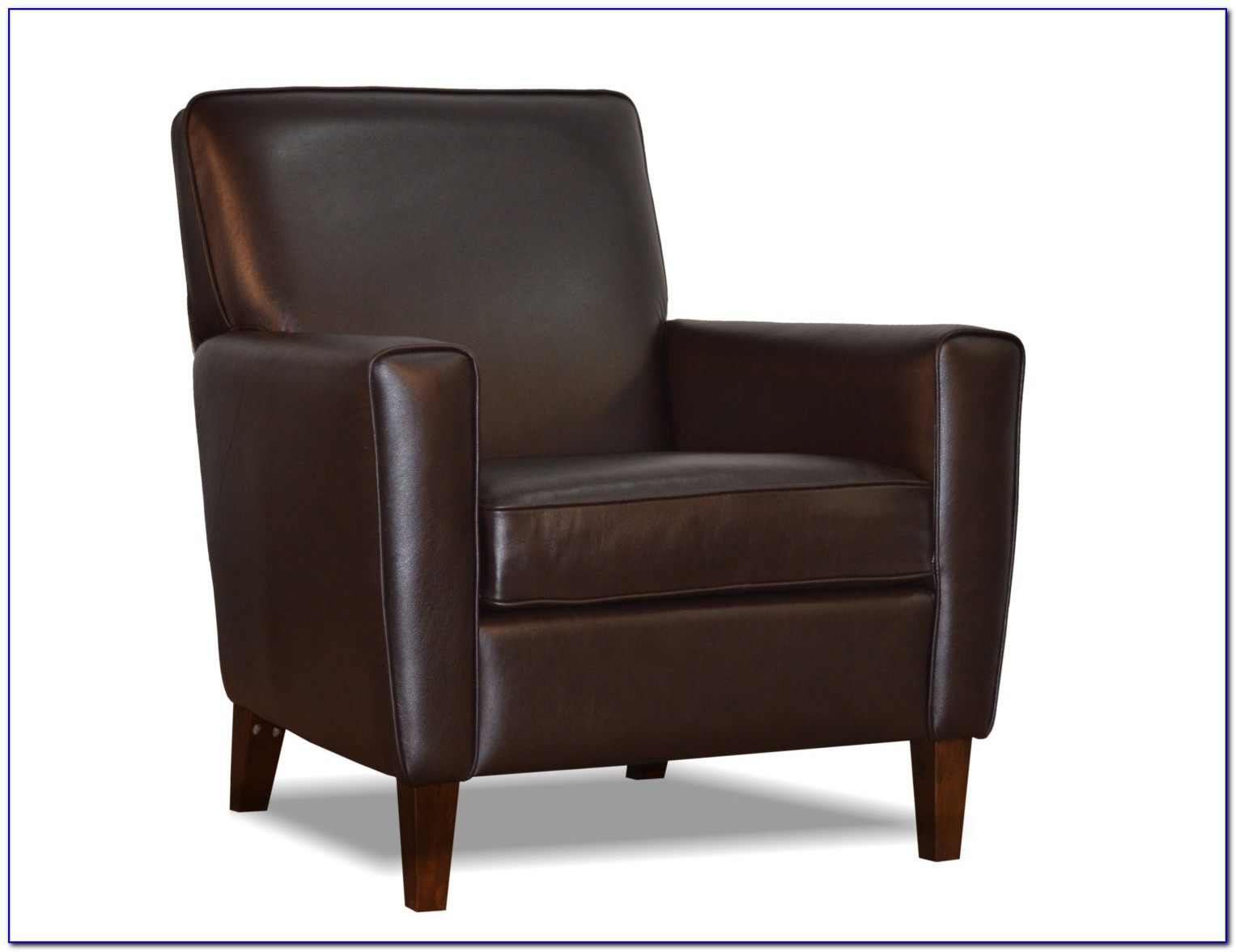 Brown Bonded Leather Accent Chair