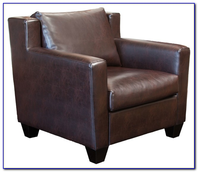 Brown Leather Club Chair Vintage