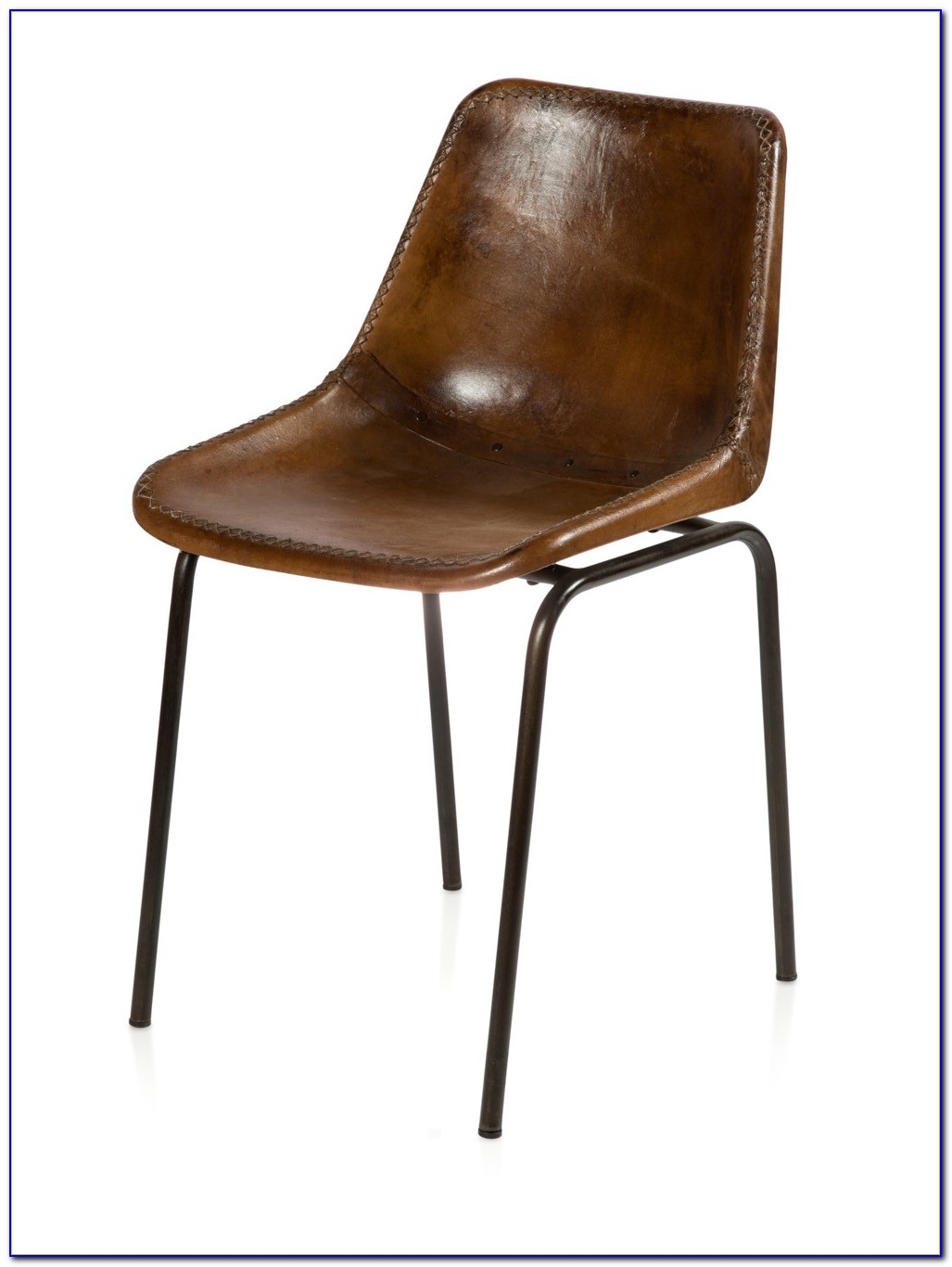 Brown Leather Dining Chairs Oak Legs