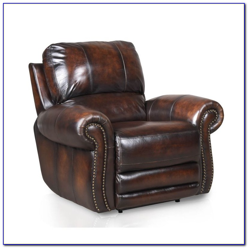 Brown Leather Recliner Chair With Cup Holder