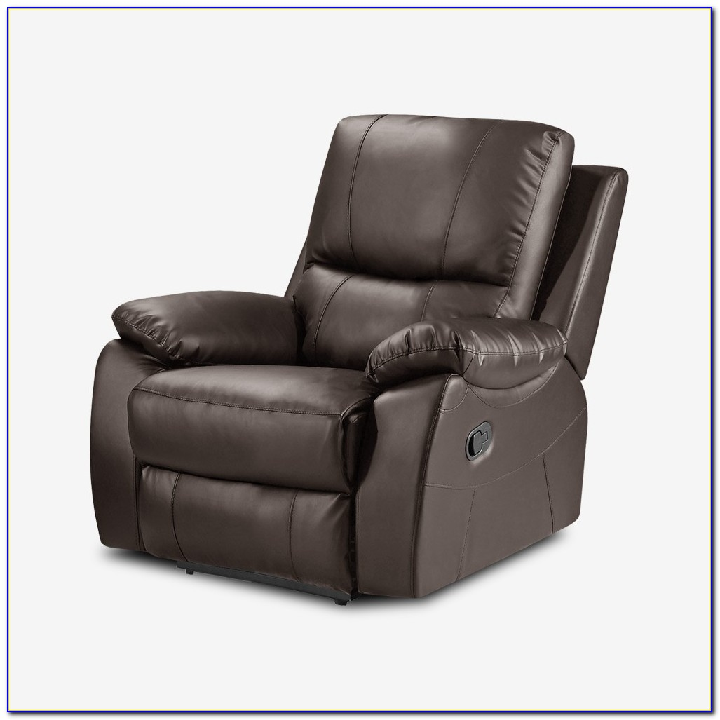 Brown Leather Rocker Recliner Chair