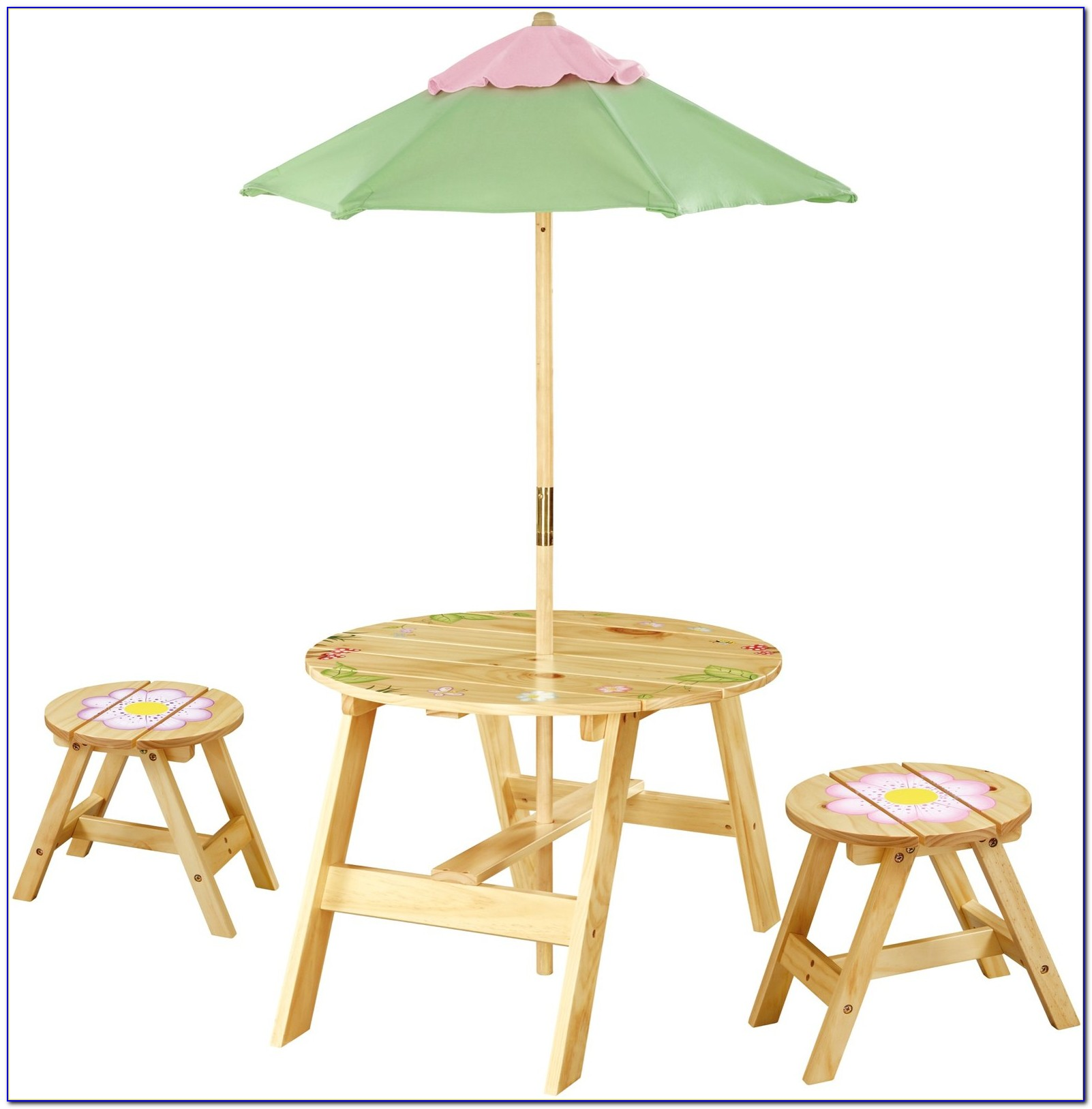 Children's Outdoor Table And Chairs With Umbrella