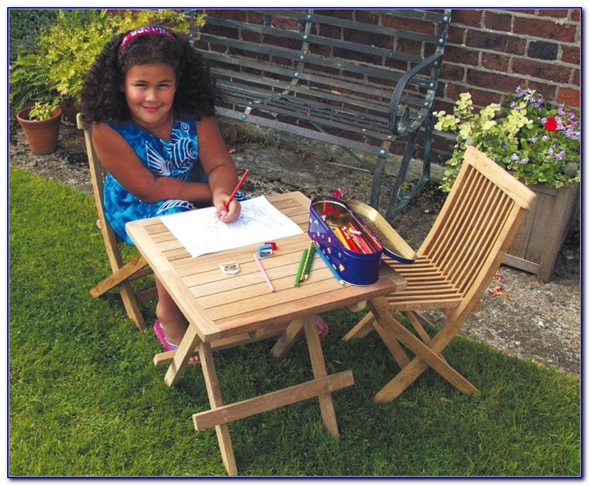 Children's Picnic Table And Chairs