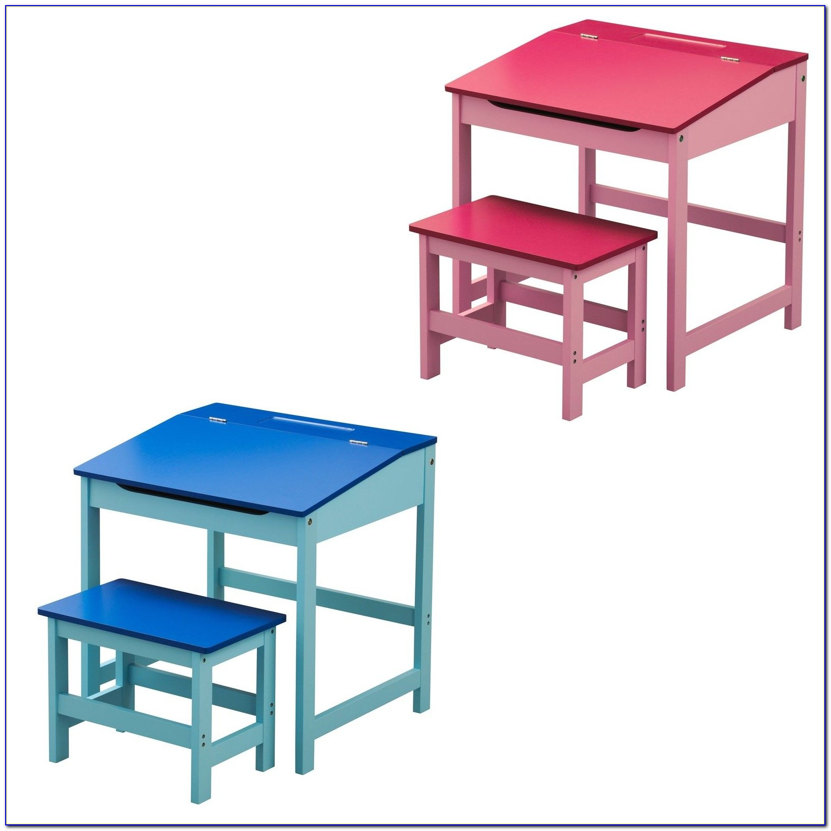 Child's Desk And Chair Set Pink