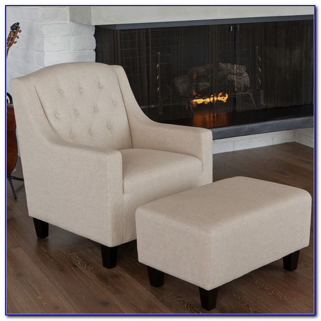 Club Chair With Ottoman