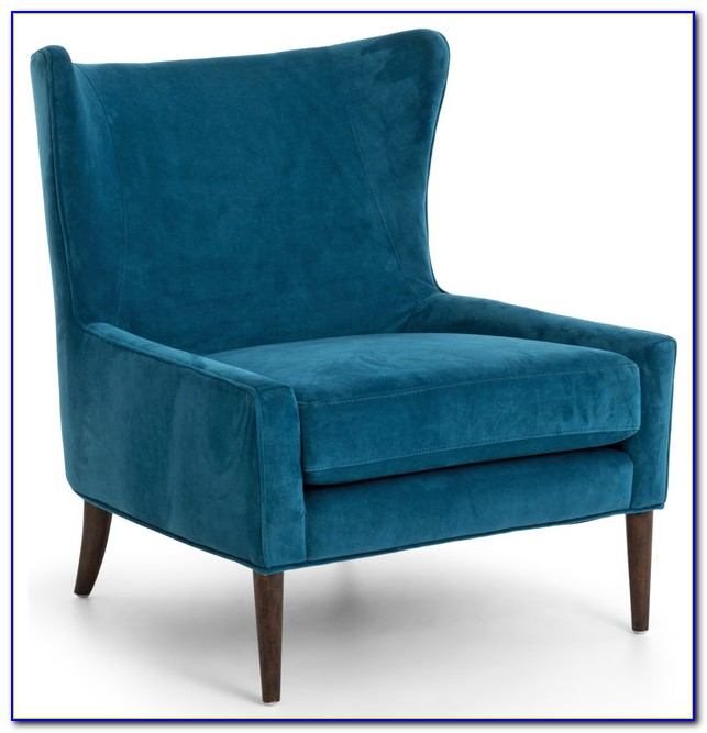 Dark Blue Velvet Armchair