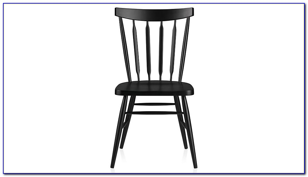 Distressed Black Wood Dining Chairs