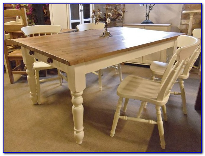Distressed Farm Table And Chairs