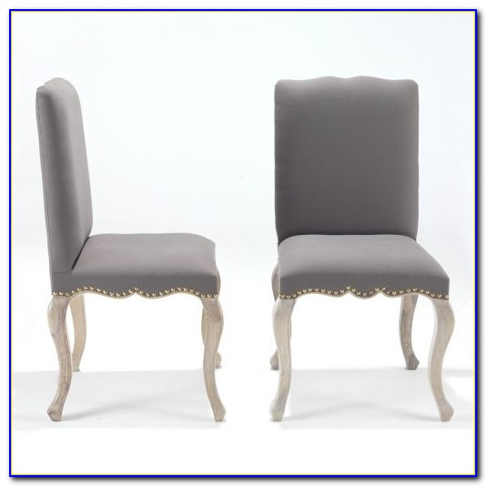 Distressed Grey Wood Dining Chairs