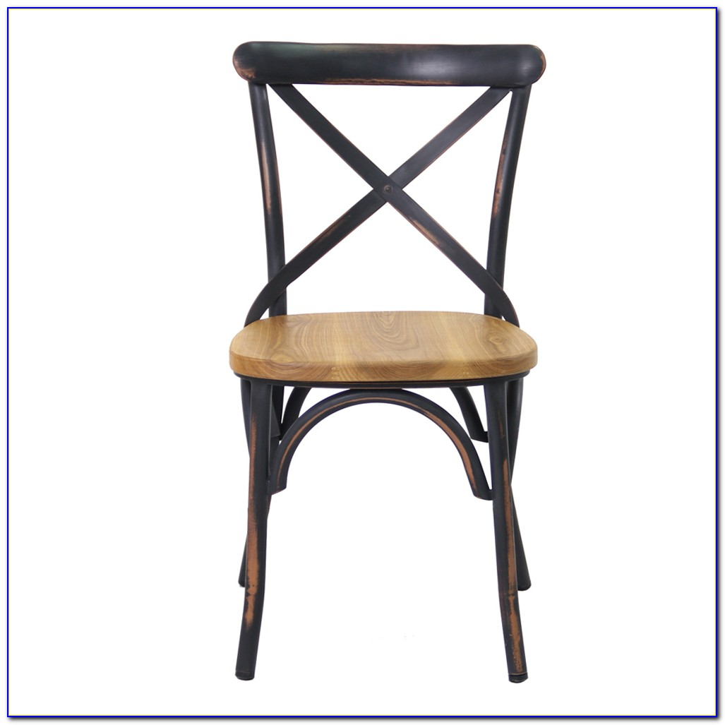 Emerson Metal Dark Vintage Dining Chairs